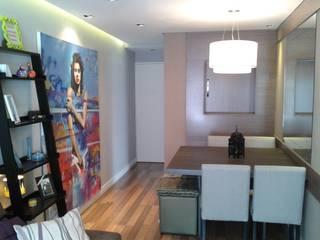 Sala de Jantar Integrada: Salas de jantar  por Claudia Naressi - Arquitetura e Interiores