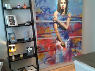 Sala de Estar Integrada: Salas de estar  por Claudia Naressi - Arquitetura e Interiores