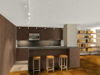 INTERIOR RENDERING:  de estilo  por ARO - Architectural Rendering Office