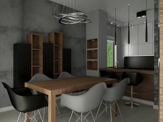 Salon - dom prywatny Wrocław.: styl , w kategorii Jadalnia zaprojektowany przez Carolineart