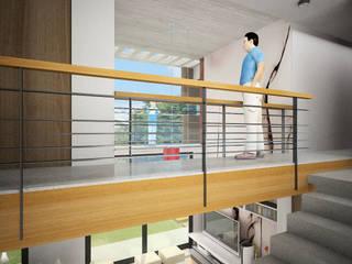 Vivienda Jass Pasillos, vestíbulos y escaleras minimalistas de Comodo-Estudio+Diseño Minimalista
