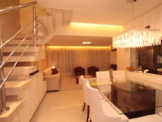 Modern dining room by Pricila Dalzochio Arquitetura e Interiores Modern