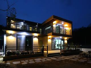 기존도면에 한층더 업그레이드된 집 [경상북도 예천] 모던스타일 주택 by 한글주택(주) 모던