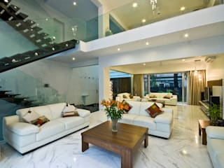 Private Residence at Sopan Baug, Pune Chaney Architects Living room