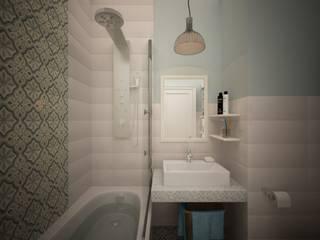 дизайн-бюро ARTTUNDRA Scandinavian style bathroom Blue