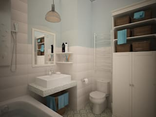 Scandinavian style bathroom by дизайн-бюро ARTTUNDRA Scandinavian