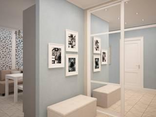 дизайн-бюро ARTTUNDRA Scandinavian style corridor, hallway& stairs Blue