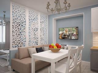 дизайн-бюро ARTTUNDRA Living room Blue