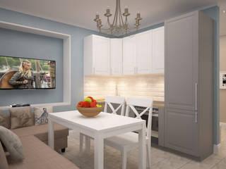 Строгий скандинавский стиль в двух комнатной квартиры в ЖК «Триколор»: Кухни в . Автор – дизайн-бюро ARTTUNDRA