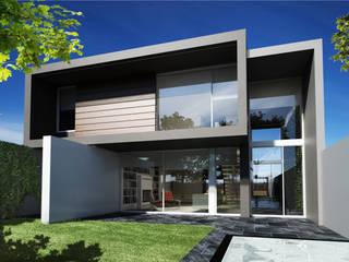 Fachada posterior: Casas de estilo moderno por FT Arquitectura
