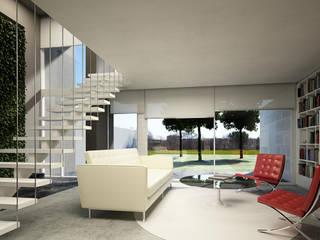 Casa Atelier Livings modernos: Ideas, imágenes y decoración de FT Arquitectura Moderno