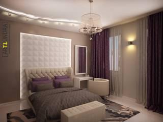 дизайн-бюро ARTTUNDRA Modern style bedroom Beige