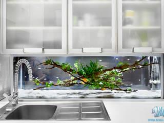 Inteligentne akwarium: styl , w kategorii Kuchnia zaprojektowany przez Inteligentny Budynek Polska