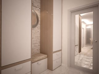 дизайн-бюро ARTTUNDRA Minimalist corridor, hallway & stairs White