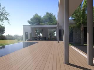 Maison individuelle Avignon: Jardin de style  par Atoutplans Architecture