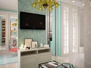 дизайн-бюро ARTTUNDRA Modern living room Turquoise