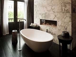 homify Rustic style bathrooms Marble