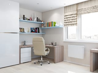 Study/office by Tatiana Zaitseva Design Studio, Minimalist