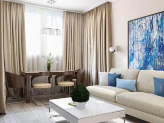 интерьер гостиной : Гостиная в . Автор – Tatiana Zaitseva Design Studio