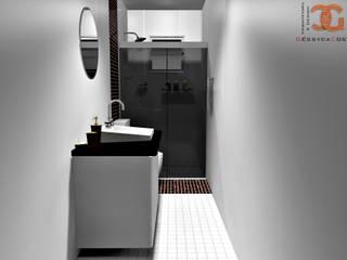Decoração de Banheiro:   por Géssyca Costa | Arquitetura e Design