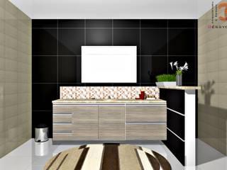 Moveis Planejados e Interiores | Banheiro:   por Géssyca Costa | Arquitetura e Design