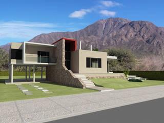 Casas unifamiliares de estilo  por Arquitecto Manuel Daniel Vilte, Minimalista Piedra