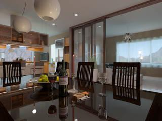 Salle à manger de style  par Arquitecto Manuel Daniel Vilte, Minimaliste
