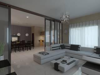 Renders Estar: Livings de estilo  por Arquitecto Manuel Daniel Vilte