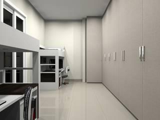 Dormitório Duplo.: Escolas  por Géssyca Costa | Arquitetura e Design