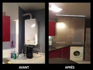 Avant / Après Cuisine moderne par Atelier MATIERES Moderne