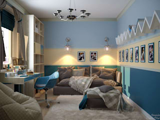 Mediterrane Kinderzimmer von Студия интерьерного дизайна happy.design Mediterran