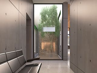 Lozano Arquitectos Jardin moderne Béton