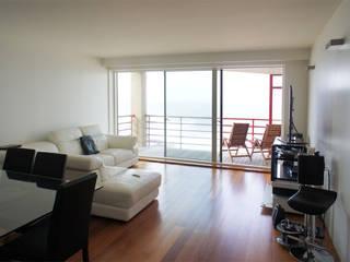 Apartamento T2 - Povoa de Varzim: Salas de estar  por B3C,Moderno