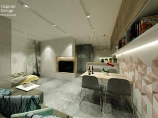 KAWALERKA WROCŁAW Nowoczesny salon od Inspired Design Nowoczesny
