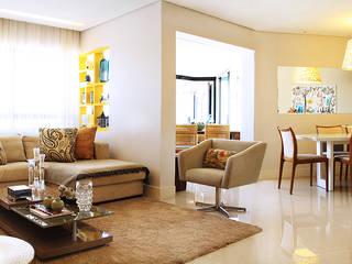 APARTAMENTO MANSÃO SÃO FELIX : Salas de estar  por Mally Arquitetura