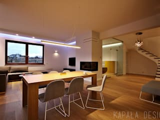 Projekt wnętrza domu w Warszewie: styl , w kategorii Jadalnia zaprojektowany przez kapaladesign