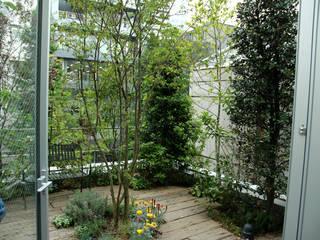 千代田区・Sオフィス(屋上): 有限会社イエナランドスケープが手掛けた庭です。,