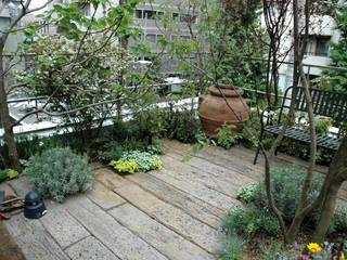 千代田区・Sオフィス(屋上): 有限会社イエナランドスケープが手掛けた庭です。