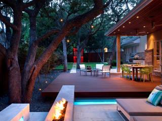 Balcones y terrazas de estilo tropical de NOUVELLE. | Proje Danışmanlık Tropical