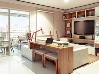 Alessandra Duque Arquitetura & Interiores 现代客厅設計點子、靈感 & 圖片