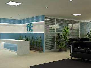 FIT projeto corporativo Escritórios modernos por Alessandra Duque Arquitetura & Interiores Moderno