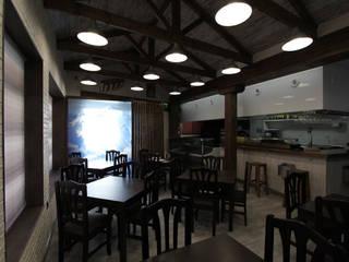 INTERIOR SALA: Locales gastronómicos de estilo  de DENORTE PROJECT MANAGEMENT