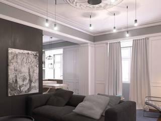 La Spezia - Arquitetura de interiores : Salas de estar  por Varq.,Eclético