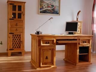 Schreibtisch El-Paso Pinie massiv Holz Computertisch Bürotisch Büro Moebel:   von Moebelkultura.DE