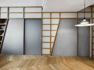 3.8.1 Soggiorno moderno di Principioattivo Architecture Group Srl Moderno