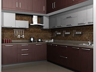 modular kitchens hydeabad:   by woodz modular designers and interiors