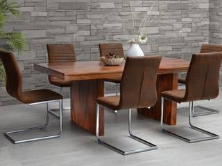 Essgruppe Sago - Esstisch 200 & 6 Stühle  - Palisander massiv Holz - Moebel Esstisch  - Esszimmer:   von Moebelkultura.DE
