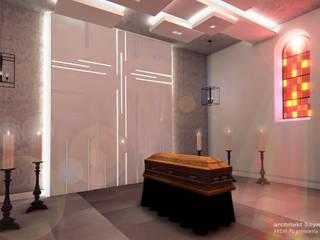 Museum Modern Oleh architekt SZYMON PLESZCZAK - ARCHI PL PRACOWNIA ARCHITEKTURY I WNĘTRZ Modern