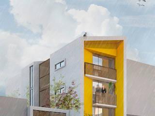 Fachada Principal:  de estilo  por paralelocolectivo de arquitectos