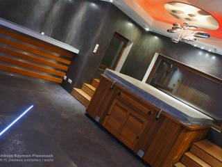 Spa modernos de architekt SZYMON PLESZCZAK - ARCHI PL PRACOWNIA ARCHITEKTURY I WNĘTRZ Moderno